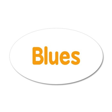 Blues word orange music design Wall Decal