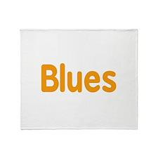 Blues word orange music design Throw Blanket