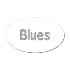 Blues word grey music design Wall Decal