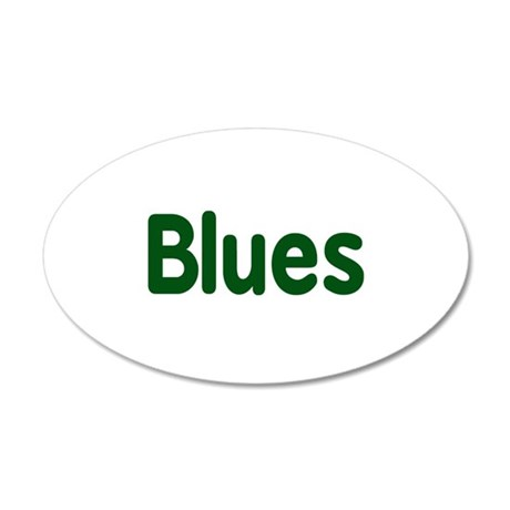 Blues word green music design Wall Decal