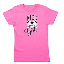 Kick Like A Girl T- Shirt Girl's Tee