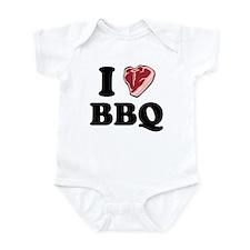 I [heart] BBQ Infant Bodysuit