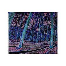 Magic forest purple 2 Throw Blanket