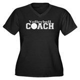 Volleyball Coach II Women's Plus Size V-Neck Dark