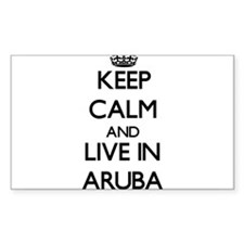 Keep Calm and Live In Aruba Decal