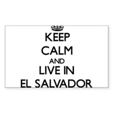 Keep Calm and Live In El Salvador Decal