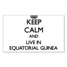 Keep Calm and Live In Equatorial Guinea Decal