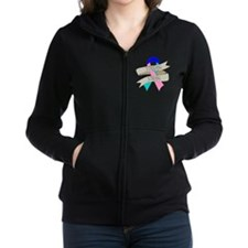 Thyroid Cancer Standing Strong Zip Hoodie