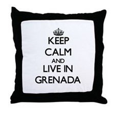 Keep Calm and Live In Grenada Throw Pillow