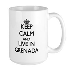 Keep Calm and Live In Grenada Mugs