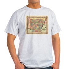 1854 Arkansas Map T-Shirt