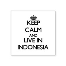 Keep Calm and Live In Indonesia Sticker