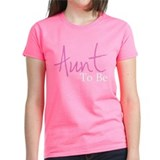 Aunt To Be (Pink Script) Tee
