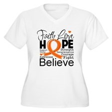 Faith Multiple Sclerosis Plus Size T-Shirt
