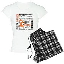 Multiple Sclerosis Orange Ribbon Pajamas