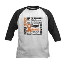 Multiple Sclerosis Orange Ribbon Baseball Jersey