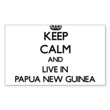 Keep Calm and Live In Papua New Guinea Decal