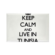 Keep Calm and Live In Tunisia Magnets