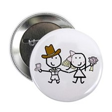"Wedding - Steven & Tracy 3 2.25"" Button (10 pack)"