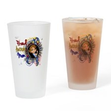Autism Rosie Cartoon 1.1 Drinking Glass
