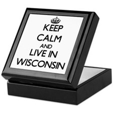 Keep Calm and Live In Wisconsin Keepsake Box