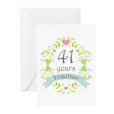 41st Anniversary flowers Greeting Cards (Pk of 20)
