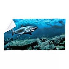 Underwater Ocean Menacing Shark Painting Beach Tow