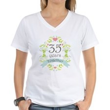 35th Anniversary flowers an Shirt