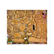 Klimt Tree of Life Throw Blanket