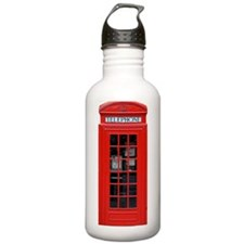 British Phone Box Water Bottle
