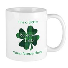 Green Plaid Scotch Irish Shamrock Mugs