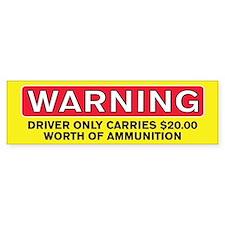 Driver-Ammo Bumper Car Sticker