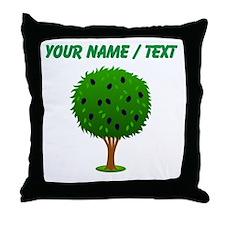 Custom Mulberry Bush Throw Pillow
