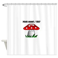 Custom Cartoon Mushroom Shower Curtain