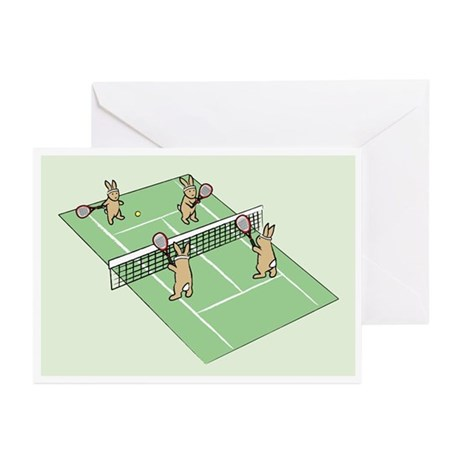 Bunny Tennis Greeting Cards (Pk of 10)