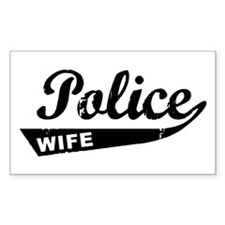 Vintage Police Wife Rectangle Decal