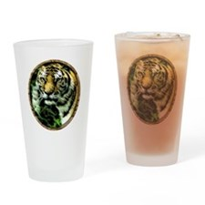 Jungle Tiger Drinking Glass