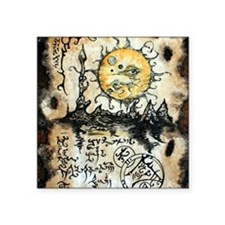 """Eyes of the Sun Square Sticker 3"""" x 3"""""""