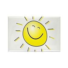 Smiling Sun Rectangle Magnet