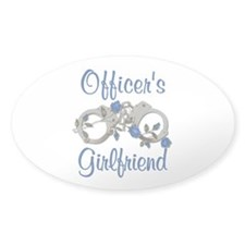 Officer's Girlfriend Oval Decal