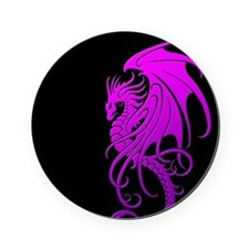 Flying Tribal Purple Dragon Cork Coaster