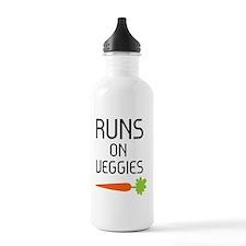 runs on veggies Sports Water Bottle