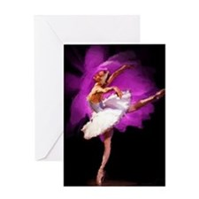 Impressionist Ballerina Greeting Cards