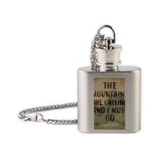 John Muir Mountains Flask Necklace