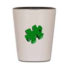 Puzzle Piece 2.1 Green Shot Glass