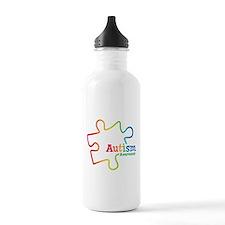 Rainbow Gradient Autis Water Bottle
