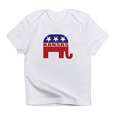 Kansas Republican Elephant Infant T-Shirt