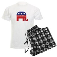 Michigan Republican Elephant Pajamas
