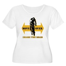 Move Over Share The Road Plus Size T-Shirt