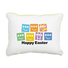 Easter Egg Triclopsy Rectangular Canvas Pillow